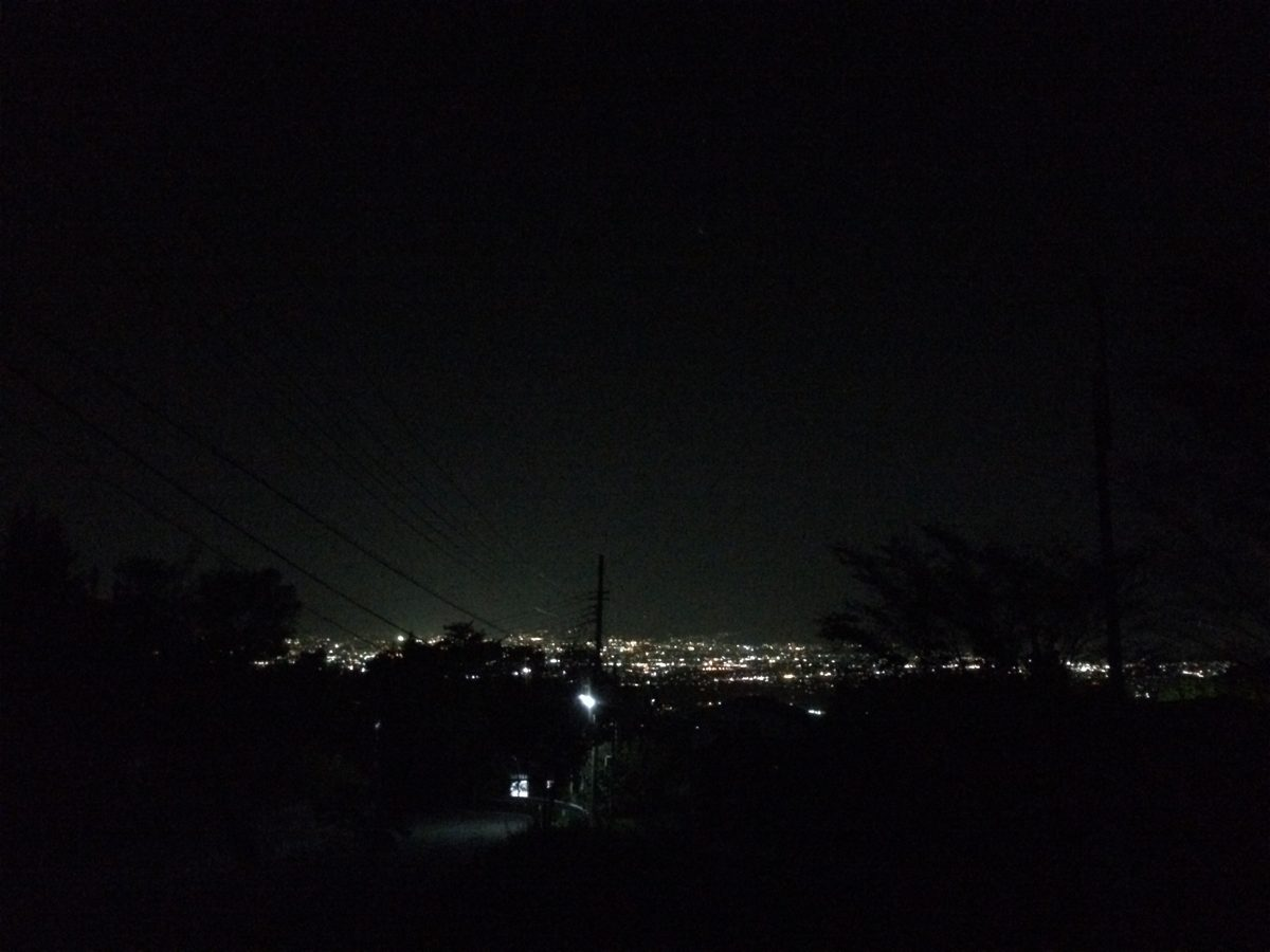 黒坂からの夜景