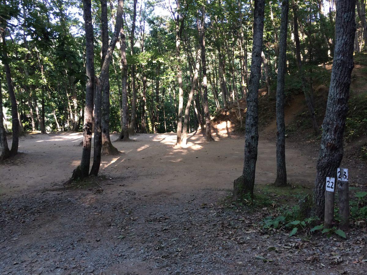 黒坂オートキャンプ場の区画