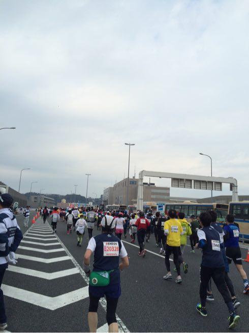 横浜マラソンの首都高速コース