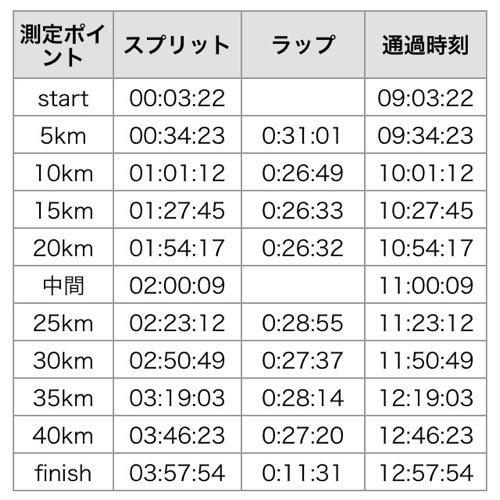 富士山マラソンのペース