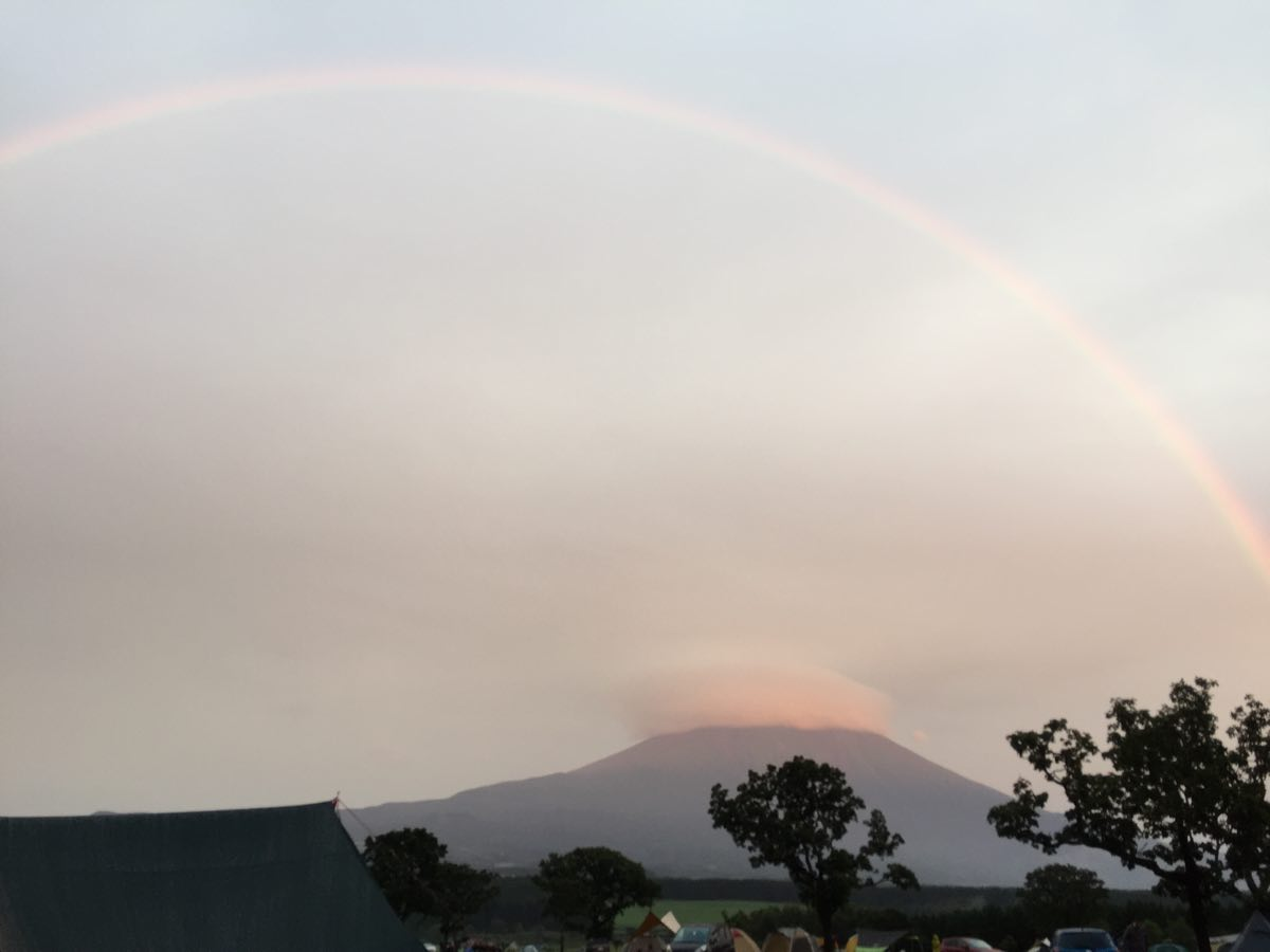 ふもとっぱらの虹